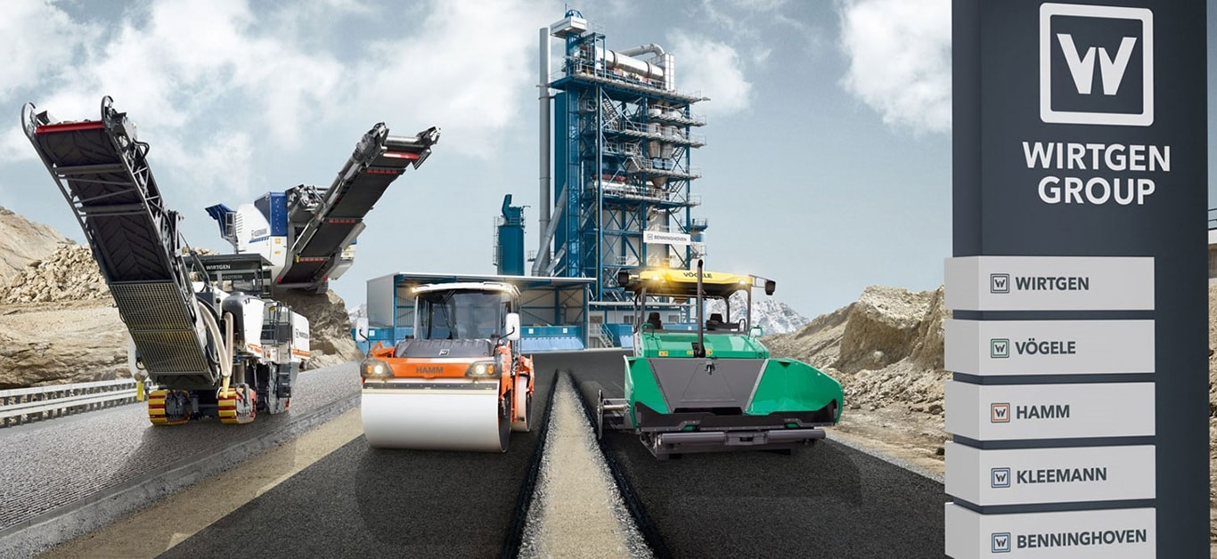 wirtgen road building equipment